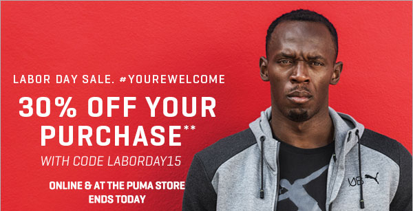 LABOR DAY SALE. #YOUREWELCOME | 30% OFF YOUR PURCHASE** | Shoes, Clothing and Sportswear - PUMA® Official Online Store